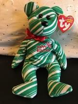 TY BEANIE BABIES 2007 HOLIDAY TEDDY BEAR GREEN  NWT MINT - $10.65