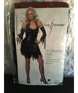 Leg Avenue 2 PC Dark Nymph Black Dress Costume Women's  #83330 XS  - $22.95