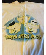 """WDCC """"Work And Play Don't Mix Play First"""" Three Little Pigs T-Shirt XL - $21.95"""