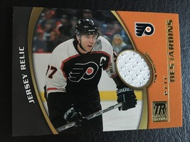 2001-02 Topps Reserve Hockey Eric Desjardines Flyers Game Used Jersey Relic Mint - $3.00