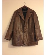 Vintage Men's 60's Reed Sportswear Leather Sport Coat Jacket Mod Retro G... - $193.28