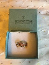 Touchstone Swarovski Crystal Colorwave Ring Gold plated .925 Silver Size 6 - $52.95