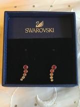 Swarovski Pink Crystal Harley Pierced dangle Earrings *NEW* RARE HTF - $99.95