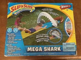WHAM-0 SLIP 'N SLIDE MEGA SHARK INFLATABLE WATER SLIDE BACKYARD KIDS FUN... - $57.03