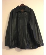 Vintage Wilsons M Julian Men's Black Genuine Leather dress Jacket Coat 1x - $188.49