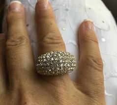 Touchstone Swarovski Crystal White Diamonds Ring  .925 Silver NEW Size 6  - $69.95