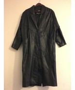 Wilsons Black Genuine Leather Thinsulate Dress Coat Small - $148.95