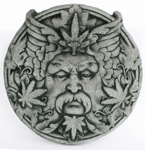 Cannabis Concrete Wall Plaque  - $62.00