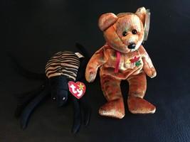 TY BEANIE BABIES SPINNER THE SPIDER & KANATA NEW BRUNSWICK BEAR NWT  LOT... - $9.70