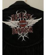 Vintage Women's Harley Davidson Black Leather & Suede Jacket Size Small - $99.95