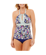 Liz Claiborne Paisley Tankini Swimsuit Top Size 6, 10, 14 Msrp $49.00 - $24.99