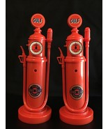 GULF OIL VINTAGE GAS PUMP HAND HELD PUSH BUTTON PHONES SET OF (2) - $31.72