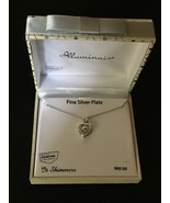 Heart Silver Plated Genuine Swarovski Crystal Pendant Necklace *NEW* Ret... - $31.81