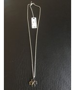 Brosway Four Leaf Clover Stainless & Gold Plated Necklace Pendant - $29.95