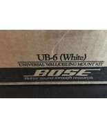 BOSE UNIVERSAL WALL/CEILING SPEAKER MOUNT KIT UB-6 WHITE 1 PAIR NIB - $28.78