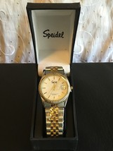 Speidel Men's Watch Stainless Silver & Gold Tone 60330215 With Date - $917,59 MXN
