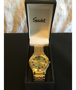 Speidel Men's 60333332 Classic Goldtone Analog Watch Stretch Band Gold F... - $30.08