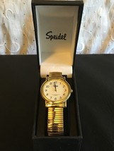 Speidel Watches Men's 60331632 Classic Goldtone Analog Watch Stretch Band New - $21.56
