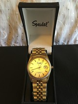 Speidel Men's Watch Stainless Gold Tone Gold Face With Date 60330010 - $38.95
