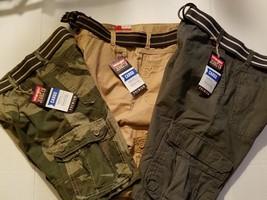 Wrangler Boys Cargo Shorts W/Belt Size 10H NWT Tan  - $21.99