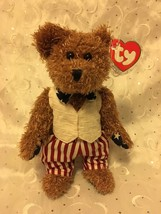 """TY BEANIE BABIES BEAR 8.5""""  REVERE STARS AND STRIPES FOREVER BEAR NEW WI... - $8.75"""