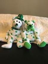 TY IRISH BEARS LOT OF (2) O'FORTUNE & CHEER  BEANIE BABIES ST. PATRICKS ... - $15.43
