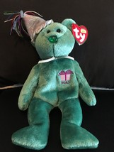 TY BEANIE BABY MAY THE BIRTHDAY BEAR W/HAT MINT WITH MINT TAGS RETIRED NEW - $8.75