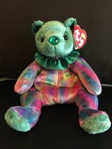 TY BEANIE BABY MAY BIRTHDAY BEAR CLOWN COLLAR MINT & MINT TAGS RETIRED NEW - $8.75