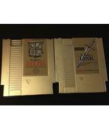 The Legend of Zelda & The Adventure of Link Nintendo NES Zelda 1 and 2 Gold - $49.95
