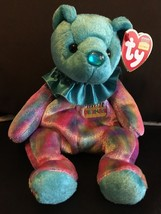 TY BEANIE BABY DECEMBER BIRTHDAY BEAR CLOWN COLLAR MINT & MINT TAGS RETI... - $8.75