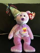 TY BEANIE BABY FEBRUARY THE BIRTHDAY BEAR W/HAT MINT RETIRED NEW - $8.75