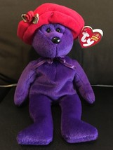"""TY BEANIE BABIES RUBY THE BEAR RED HAT SOCIETY 9""""  MINT WITH MINT TAG RE... - $14.46"""