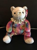 TY BEANIE BABY JUNE BIRTHDAY BEAR CLOWN COLLAR MINT & MINT TAGS RETIRED NEW - $8.75