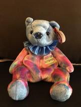 TY BEANIE BABY SEPTEMBER BIRTHDAY BEAR CLOWN COLLAR MINT & MINT TAGS RET... - $8.75