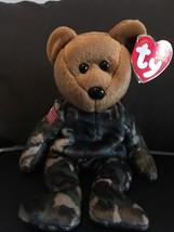 TY BEANIE BABIES HERO BEAR AMERICAN FLAG PATRIOTIC ARMY SOLDIER NWT MINT... - $11.60