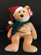 """TY BEANIE BABIES 2003 HOLIDAY TEDDY 8.5""""  NEW WITH TAG RETIRED CHRISTMAS - $7.80"""