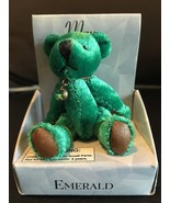 "RUSS MINI BEAR APRIL BIRTHDAY DIAMOND PENDANT BEARS OF THE MONTH 3"" WHITE NIB - $7.80"
