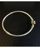 "GENUINE PANDORA .925 SILVER BARREL CLASP BRACELET 7.9"" 20cm NEW #590702H... - $66.71"
