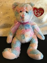"""TY BEANIE BABIES TWIRLS THE BEAR 8"""" NEW WITH TAGS MINT - $7.80"""