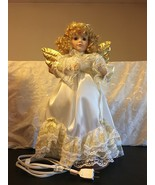 "1995 Telco Motionette Animated Porcelain Christmas Angel Figure 21""  - $119.95"