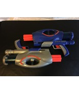 LOT OF 2 NERF AIRTECH 3000 LIQUITRON POWER DART BLASTER GUN BLUE & SILVER - $33.81