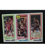 1980-81 TOPPS #237 RON  BOONE #18 MAGIC JOHNSON #178 CHEEKS RC ROOKIE MINT - $19.25