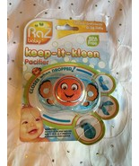 Razbaby Keep-It-Kleen Pacifier Clownfish Closes When Dripped 0-36M BPA Free - $8.95
