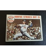 1964 Topps #136 Sandy Koufax Strikes Out 15 Game 1 1963 WS HOF LA Dodgers - $19.95