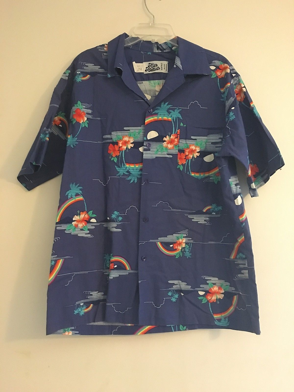 507417dc Vintage Hilo Hattie Hawaiian Blue Palm Trees and 50 similar items