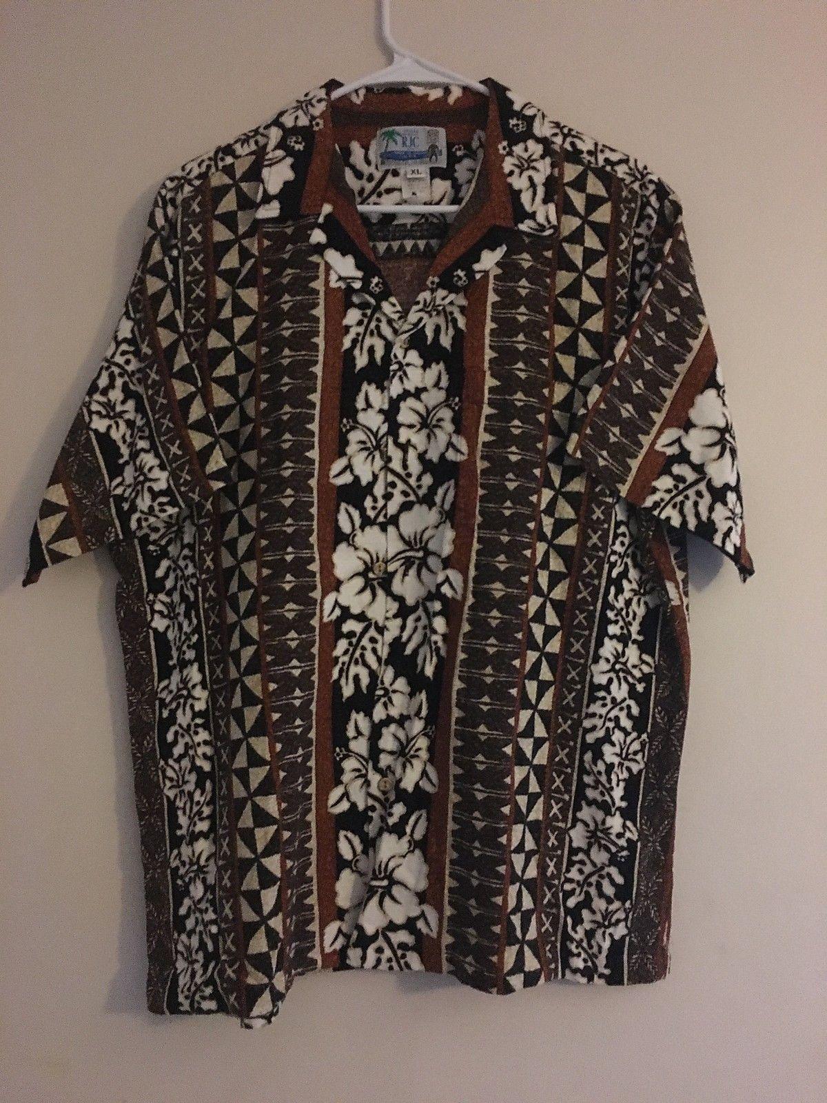 36057f4b Vintage Rjc Hawaiian Barkcloth Camp Shirt and 50 similar items. S l1600
