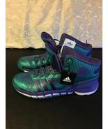 Men's Adidas Adipure Crazyquock Basketball Shoes Sneakers Sz 17 Purple Aqua - $66.71