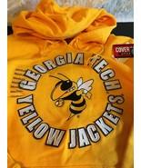 Georgia Tech Yellow Jackets Embroidered Yellow Hooded Sweatshirt Ladies ... - $29.95