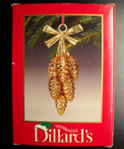Dillard's Trimmings Christmas Ornament 8 Piece Pinecone Cluster Glass Or... - $10.99