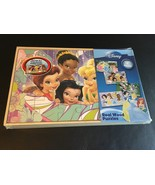 DISNEY PRINCESS TINKERBELL MINNIE MOUSE 4 WOOD PUZZLES & STORAGE TRAY NEW - $29.95